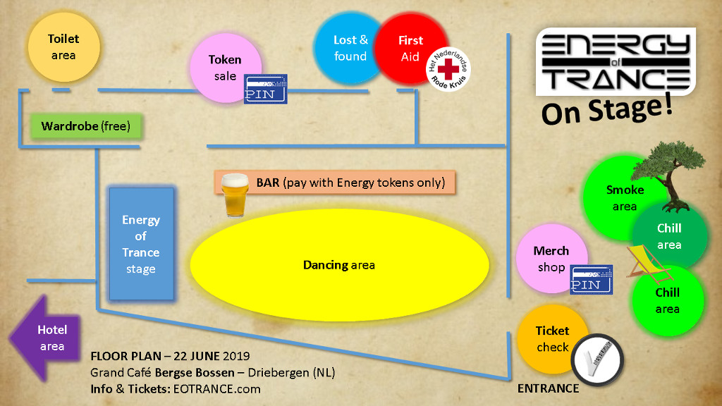 floor plan Energy of Trance 2019